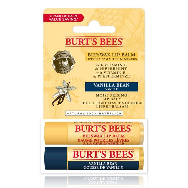 Image of Burt's Bees Autumn Edition - Beeswax and Vanilla Bean Lip Balm Duo