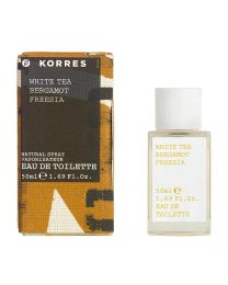Korres White Tea, Bergamot & Freesia Eau De Toilette Spray 50ml