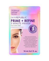 Skin Republic Prime + Refine 3 Minute Primer Face Mask Sheet 18ml