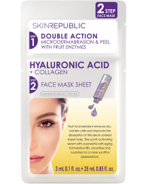 Skin Republic 2 Step Hyaluronic Acid + Collagen Face Mask 3ml+25ml