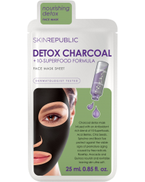 Skin Republic Detox Charcoal + 10 Superfood Formula Face Mask 25ml