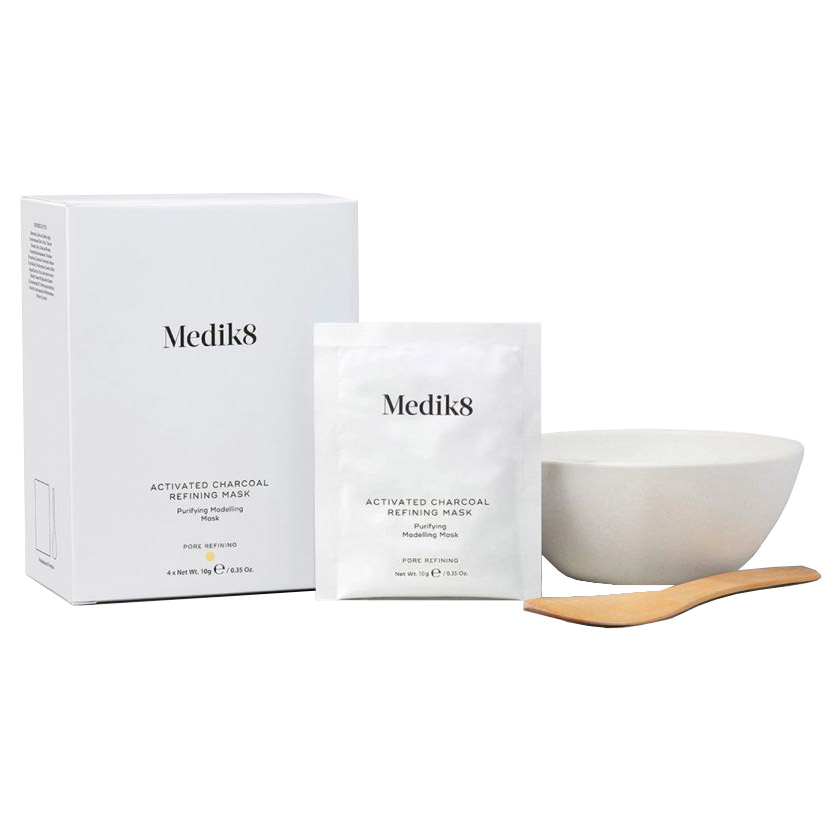 Medik8 Activated Charcoal Refining Mask - 4 Sachets & Bowl