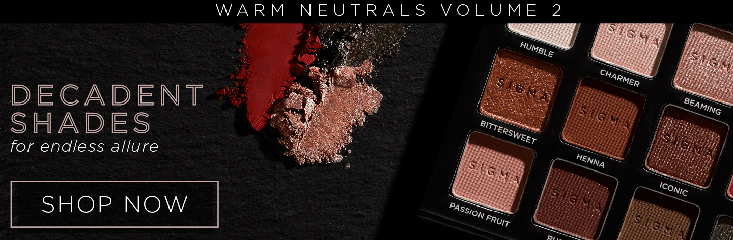 Sigma Beauty Warm Neutrals Volume 2