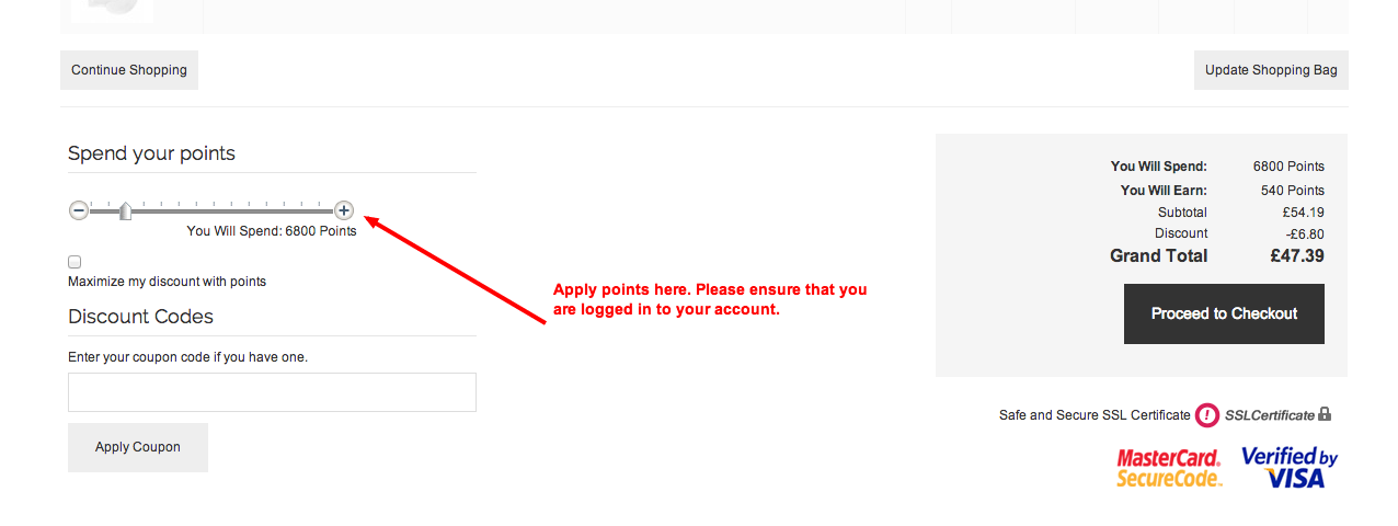 Apply your points here. Please ensure you are logged in.